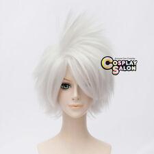 Anime Short Silver White Hatake Kakashi SOUL EATER Halloween Cosplay Wig+Cap