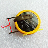 1 pcs x New 3V Tabbed CR2032 Button Cell Battery With 2 Solder Tabs Pins