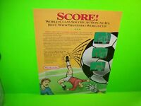 Nintendo 1991 WORLD CUP Video Arcade Game Pull Out Magazine AD Art Large 10x13
