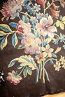 """ANTIQUE  BEAUTIFUL TAPESTRY CHAIR  BACK WITH FLORAL DESIGN MEASURES 29""""X 28"""""""