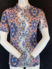 "GERRY WEBER Edition Women's Floral Print Short Sleeve Blouse Shirt Chest 36"""