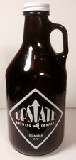 Upstate Brewing Company ( Elmira NY ) 32oz  BROWN GLASS BEER BOTTLE GROWLER