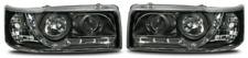 For VW Transporter T4 96-03 Black LED DRL Projector Headlights Lamps Short Nose