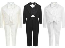 BABY BOYS CHRISTENING PAGE BOY TUXEDO TAIL BACK SUITS OUTFIT 3M-6YRS