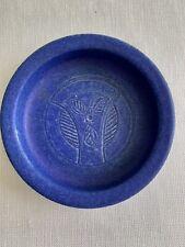New ListingVintage Handmade Pottery Dish Bowl Ashytray Blue