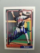MARK WOHLERS 1992 Topps  AUTOGRAPHED SIGNED AUTO BASEBALL CARD