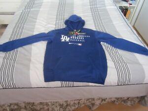 New Men's Los Angeles Dodgers Blue Nike Therma-Fit Sweat shirt Hoodie Medium