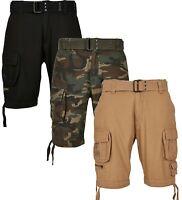 Brandit Savage Vintage Herren Cargo Kurze Hose mit Gürtel Shorts Bermudas