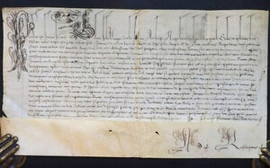 [PAPAL DOCUMENTS] [POPE PAUL V 1550 - 1621]. Manuscript document, a Papal Bull