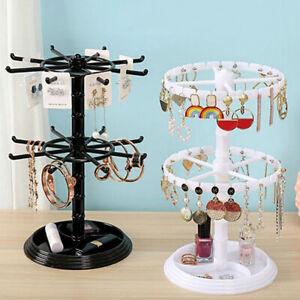 1PC Pendant Round Display Stand Tray Plastic Jewelry Rack Rotating Bracelet