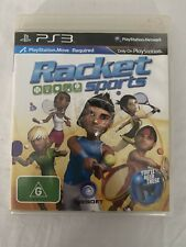 Racket Sports (2010) Playstation 3 - Tennis Volleyball Sim - PS3 Game - MOVE REQ