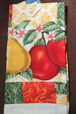 NEW BEAUTIFUL KITCHEN HAND DISH TOWEL Fresh Fruit Cherries Apples Pears