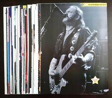 Motörhead Lemmy Kilmister Motorhead articles clippings lot collection set #2