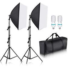 "Neewer 24x24""/60x60cm Portrait Softbox Lighting Kit with E27 Socket Bulbs Bag"