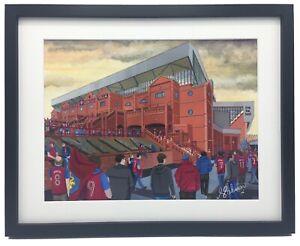 Aston Villa Villa Park Stadium High Quality Framed Art Print. Approx A4.