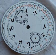 Index Medical Chronograph Pocket Watch enamel dial 46,5 mm. in diameter