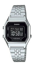 Casio LA680WA-1B Women's Vintage Silver Tone Chronograph Alarm Digital Watch