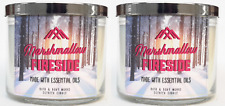 2 Bath & Body Works Marshmallow Fireside Large 3-Wick Candle 14.5 oz