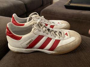 Adidas Samba Men's Shoes Sz 9 US White with Red Stripes 2007