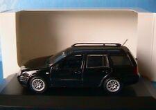 VW GOLF 4 VARIANT 2001 RABBIT BLACK MINICHAMPS 1/43 IV BREAK STATION WAGON NOIRE