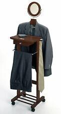 Coat Rack Mens Clothing Butler Dark Walnut Dress Clothes Hanger Valet Suit Stand