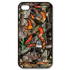 New  Camo browning Real Tree Color striped Orange Case Cover iPhone 4/4s