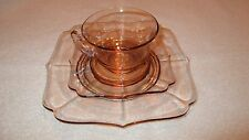 Vintage Pink Depression Glass 3 Pc Set
