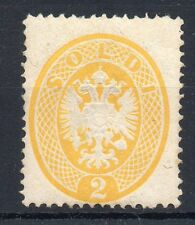 ANTICHI STATI 1863 LOMBARDO VENETO 2 SOLDI GIALLO A/2115