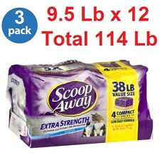 Scoop Away, Extra Strength Scented Cat Litter, 114 Lb 51.6kg (Pack of 3 x 38 Lb)