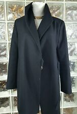 ZARA WOMAN BLACK WOOL BLEND COAT JACKET SMALL