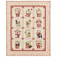 More details for bunny hill designs 'a ticket a tasket' applique quilt pattern. patchwork