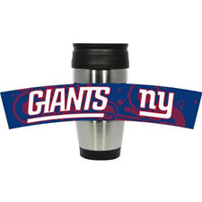 New York Giants 15 oz. Stainless Steel/Plastic Travel Mug with PVC Wrap