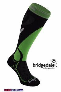 Bridgedale Vertige Mid Midweight Men's Ski Socks Black / Green