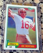 JOE MONTANA 2010 Topps 1981 Rookie Card RC RARE SP Reprint San Francisco 49ers