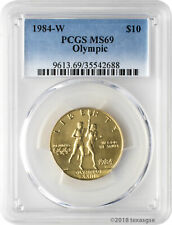 1984-W $10 Olympic Gold Commemorative Coin Pcgs Ms69