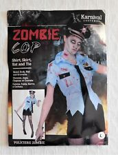 NEW Karnival Zombie Cop Halloween Costume Sz L ***FREE SHIPPING***