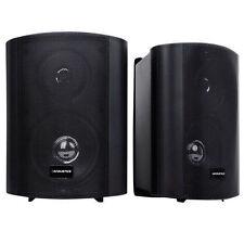 Waterproof 150-Watt Sound Marine Garden Home 2 Way Indoor Outdoor Speaker - Black