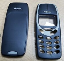 New For Nokia 3310 3330 Front Fascia + Battery Cover Housing Black