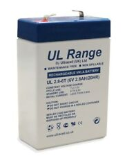 Ultracell UL2.8-6 : Batterie au plomb étanche 6V 2.8AH : 66x33x97mm