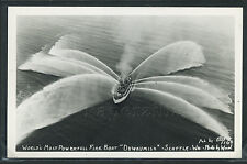 WA Seattle RPPC 1950's FIRE BOAT DUWAMISH World's Most Powerful by Ellis No.1160