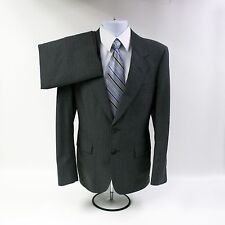 Vtg Mens 40S Gentry 2 Piece Gray Pinstripe Suit Tailored/Made in USA 2 Button