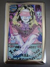 Ouija Board 01 Metal Silver Cigarette Case Paranormal Evil Spirit Blinfold Girl