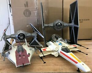 Star Wars Hasbro Various Starfighters & Vehicles TIE Fighter, X-Wing, A-Wing