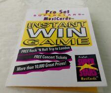1992 Pro Set Superstars Musicards unused Instant Win Game Rock N Roll London UK