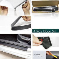 4pcs 3D Car Door Scuff Plate Sill Cover Panel Step Protector Anti-kick Scratch