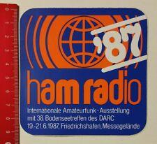 Aufkleber/Sticker: ham radio 87 Amateurfunk-Ausstellung Friedrichshafen 06041711
