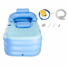 Blow up Adult PVC Portable Bathtub Inflatable Bath Tub Air Pump Outdoors SPA