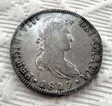BELLÍSIMA Y ESCASA MONEDA DE 8 REALES DE PLATA DE FERNANDO VII - MÉXICO 1817