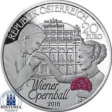 Österreich 20 Euro Silber 2016 PP Der Wiener Opernball erstmals in Farbe