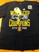 Spanish National Soccer Team Adidas Navy World Cup Winners T-shirt Mens  Large 5bc7331443964